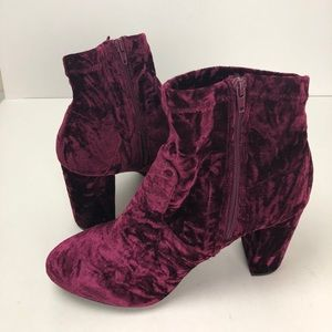 New! Lane Bryant Maroon suede ankle booties 12W